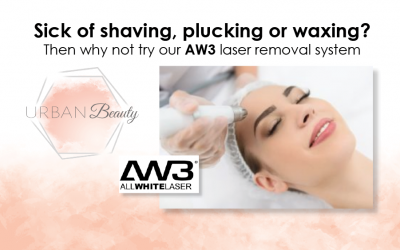 Sick of shaving, plucking or waxing? Then why not try our AW3 laser removal system